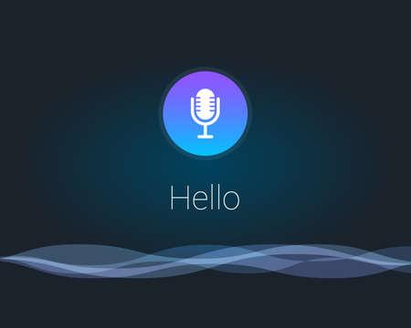 Voice Assistant Interface Landscape Background