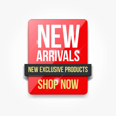 New Arrivals Products Shopping Only Label Illustration