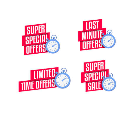 Super Special Offers, Last Minute Offers, Limited Time Offers & Super Special Sale Labels