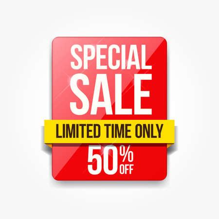Special Sale Limited Time Only Vektorové ilustrace
