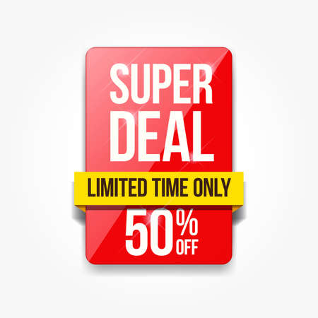 Special Offer Limited Time Shopping Only Label