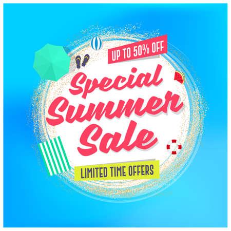 Special Summer Sale Advertising Background Design