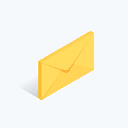 Mail Letter Message Isometric Color Icon