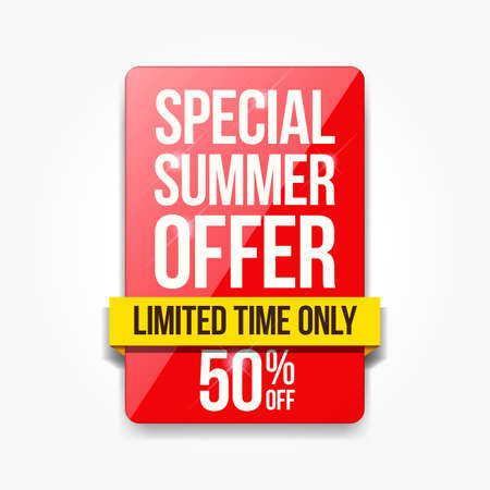 Special Summer Offer Shopping Label Ilustracja