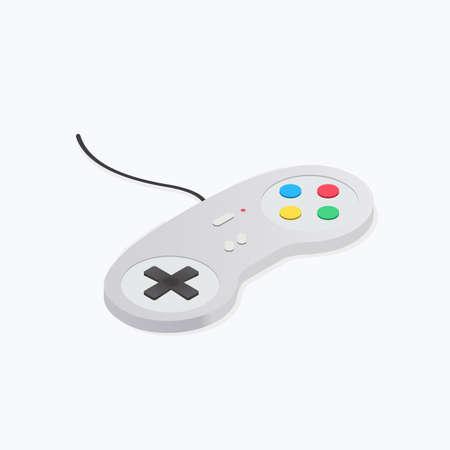 Gamepad Device Isometric Color Icon
