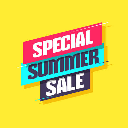 Special Summer Sale Shopping Label Ilustracja