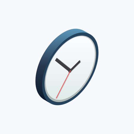 Clock Watch Isometric Color Icon
