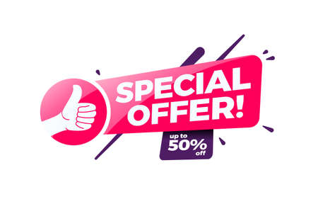 Special Offer 50% Off Shopping Label Ilustracja