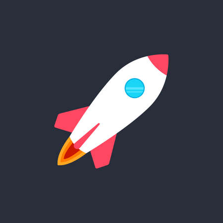 Rocket Launch Color Vector Icon