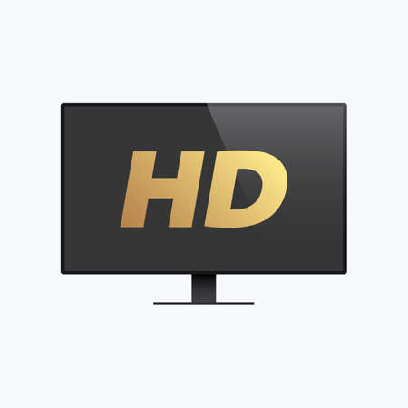 High Definition HD TV Color Vector Icon