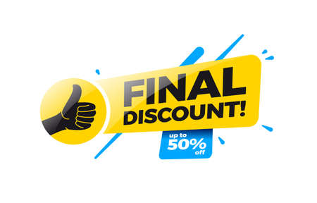 Final Discount 50% Off Shopping Label