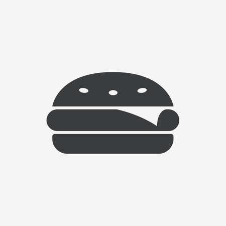 Burger Fast Food Flat Vector Icon Ilustracja
