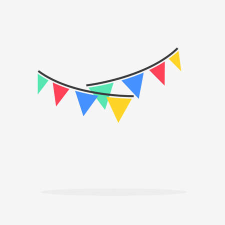 Garlands Party Flat Vector Icon