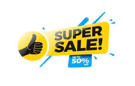 Super Sale 50% Off Shopping Label Stock Illustratie