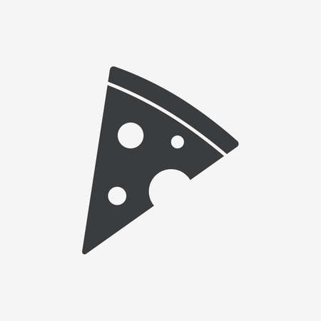 Pizza Slice Flat Vector Icon Фото со стока - 129007288