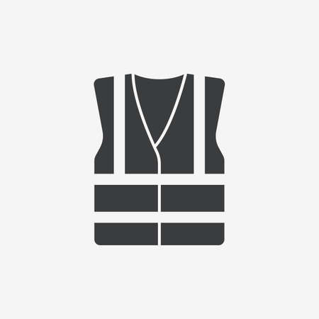 High Visibility Jacket Refractive Flat Vector Icon