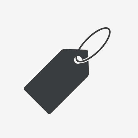 Price Label Tag Flat Vector Icon Ilustracja