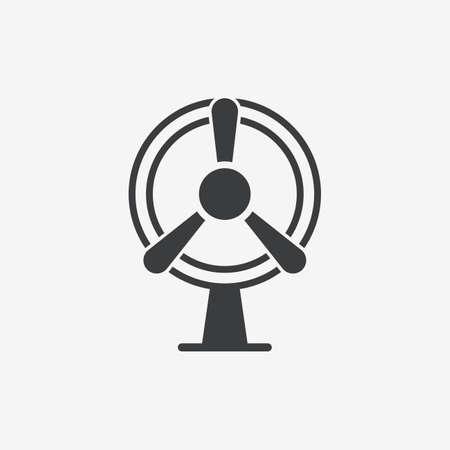 Electric Fan Wind Generator Flat Vector Icon