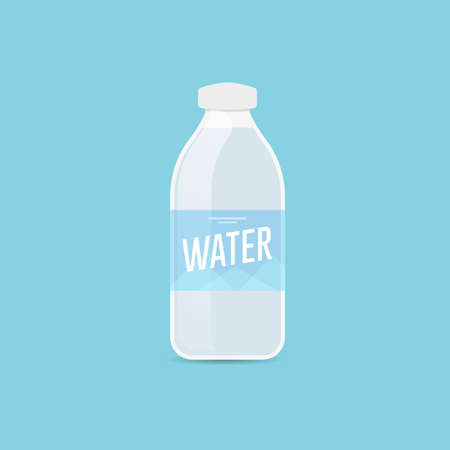 Water Bottle Color Vector Icon Ilustracja