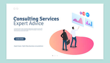 Consulting Services Expert Advice Web Page Design Template