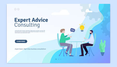 Expert Advice Consulting Web Page Design Template