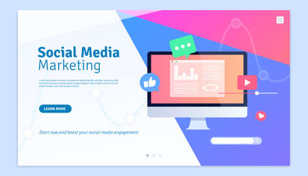 Social Media Marketing Web Page Design Template