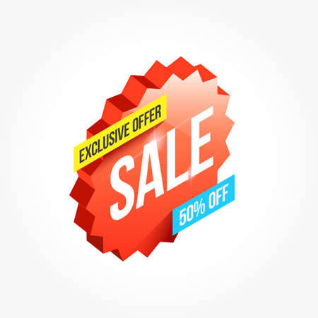 Exclusive Offer Sale Shopping Announcement Label