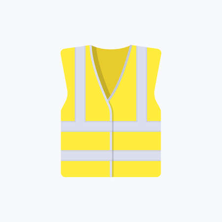 High Visibility Jacket Refractive Color Vector Icon