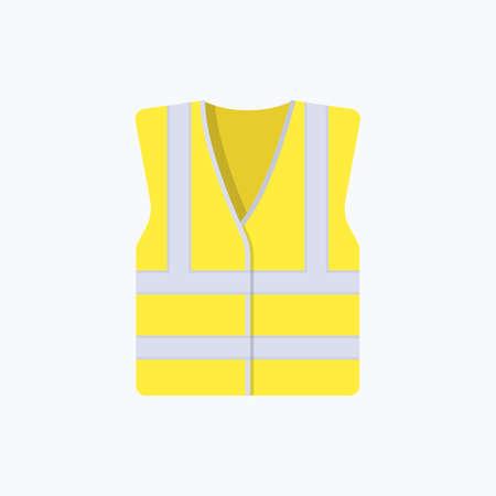 Icône de vecteur de couleur réfractive veste haute visibilité