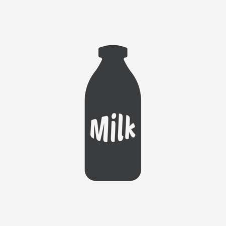 Milk Bottle Flat Vector Icon Ilustracja