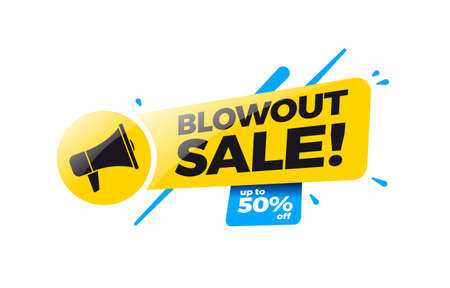 Blowout Sale 50% Off Shopping Label