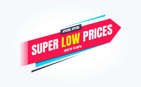Super Low Prices Special Offers Shopping Label