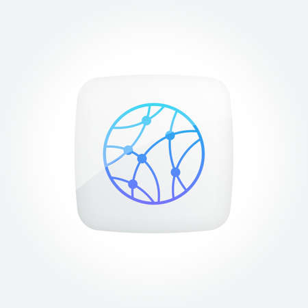 Global Technology Network Modern Gradient Icons Set Stock Illustratie