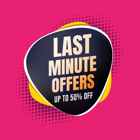 Last Minute Offers 50% Off Shopping Label