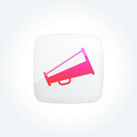 Megaphone Modern Gradient Icons Set