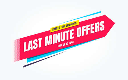 Last Minute Offers Limited Time Discounts Shopping Label