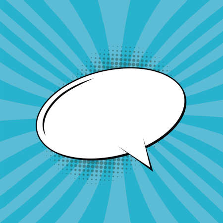 Comic Text Speech Bubble Stock Illustratie
