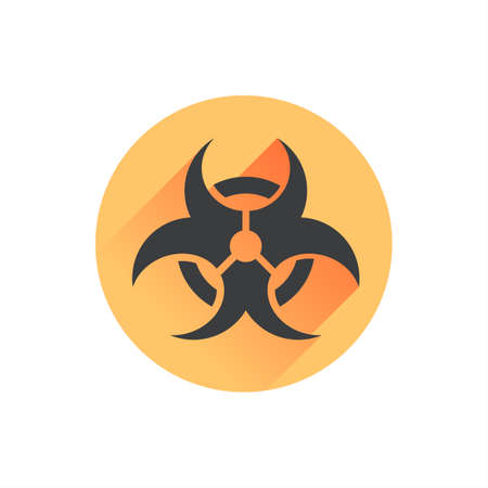 Biohazard Dangerous Long Shadow Vector Icon