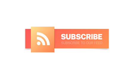 Subscribe Feed Modern Web Buttons Stock Illustratie