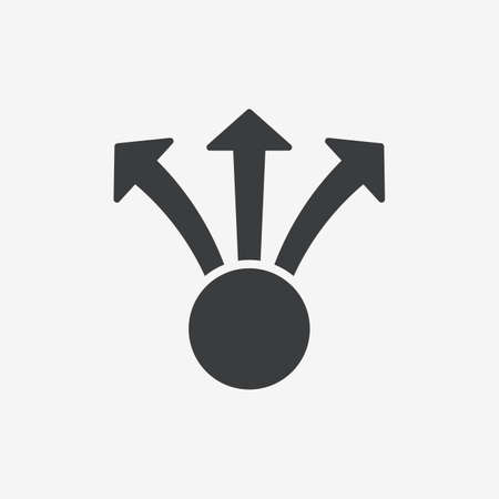 Decision Arrows Flat Vector Icon