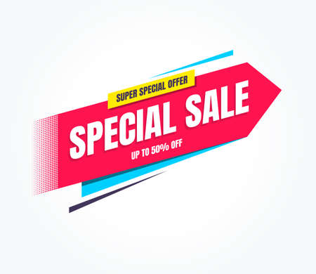 Special Sale Super Special Offer Shopping Label