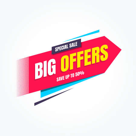 Big Offers Special Sale Shopping Label Stock Illustratie