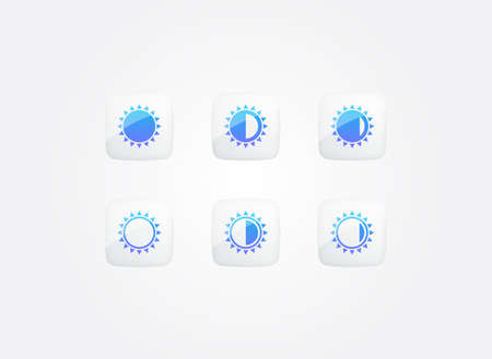 Sun Phases Modern Gradient Icons Set