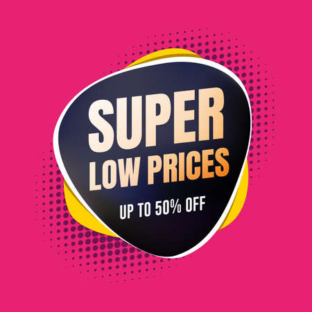 Super Low Prices 50% Off Shopping Label