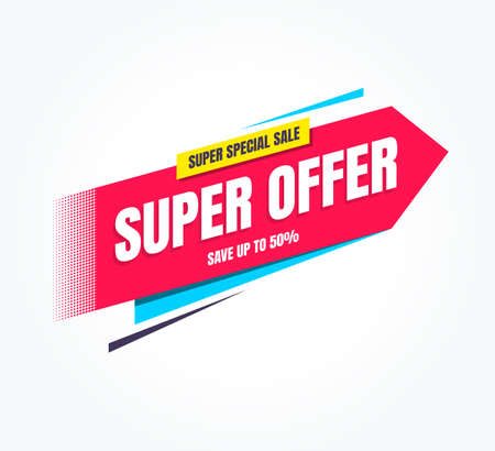 Super Offer Super Special Sale Shopping Label