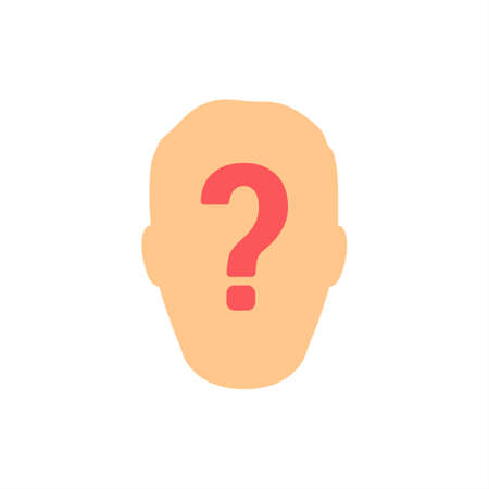 Unknown User Question Mark Flat Vector Icon