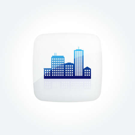 City Skyline Modern Gradient Icons Set