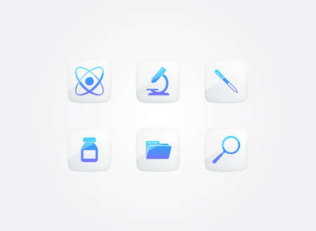 Science Research Modern Gradient Icons Set