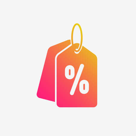 Sale Price Tag Color Vector Icon Stock Illustratie