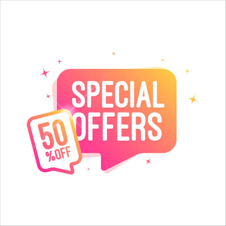 Special Offer 50% Off Shopping Tag